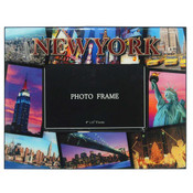 NYC Postcard Collage 4 x 6 Picture Frame
