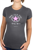 Gray City Girl Star Ladies Fitted Tee