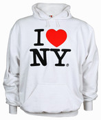 White I Love NY Emb Sweatshirt