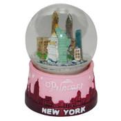 NY Pink Princess Mini Snowglobe Magnet