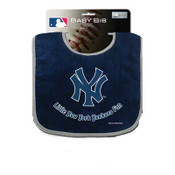 "NY Yankees Bib - Navy ""Little Fan"" Design"
