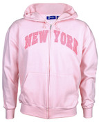 Pink on Pink New York Full Zip Hooded Sweatshirt