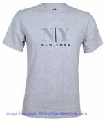 Gray NY/ New York T-Shirt
