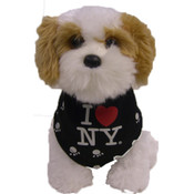 I Love NY Black Dog Bandana