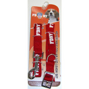 FDNY Red Collar and Leash