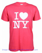 Hot Pink I Love NY T-Shirt