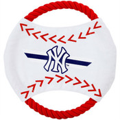 Yankees Flying Rope Disk Dog Toy