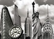 New York Landmarks Collage Photo Magnet