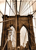 Brooklyn Bridge Ropes Photo Magnet