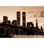 Brooklyn Bridge Night Photo Magnet