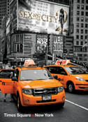 Yellow Cabs on Times Square II Photo Magnet