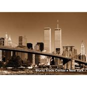 WTC & Brooklyn Bridge Photo Magnet