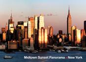 Midtown Sunset Panorama Photo Magnet