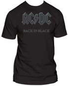 "ACDC ""Back In Black"" Black Adult T-Shirt"