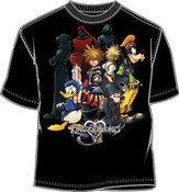 Kingdom Hearts Black Adult T-Shirt