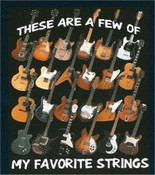 My Favorite Strings Black Adult T-Shirt