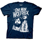 1 Man Wolf Pack Navy Adult T-Shirt