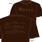 House Dark Chocolate Adult T-Shirt