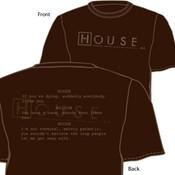 House Dark Chocolate Adult T-Shirt