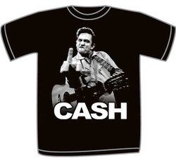 Johnny Cash Black Adult T-Shirt
