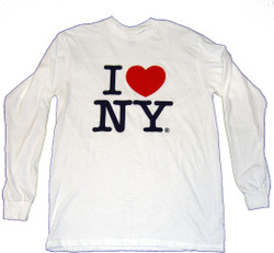 I Love NY Long Sleeve T-Shirt in White