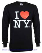 I Love NY Long Sleeve Shirt in Black