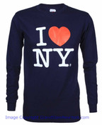 I Love NY Long Sleeve Shirt in Navy