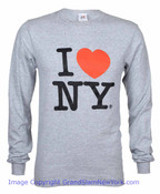 I Love NY Long Sleeve Shirt in Grey