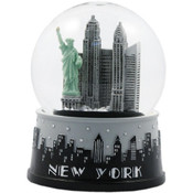 "NYC ""Grey Skyline"" 65mm Snowglobe"