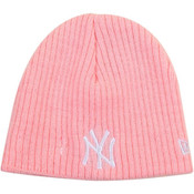 NY Yankees Pink My First Beanie Knit Hat