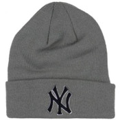 NY Yankees Grey Cuff Knit Hat