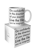 Go confidently Quotable Mug