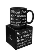Shoot For The Moon Quotable Mug