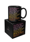 Live with Intention Quotable Mug