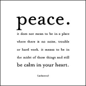 Peace Quotable Card