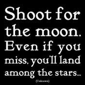 Shoot For The Moon Quotable Card