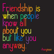 Friendship Is Quotable Card