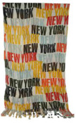 NYC Bold Orange Rainbow Scarf