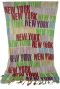 NYC Bold Green Rainbow Scarf