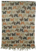 NYC Butterfly Print Orange Tone Scarf