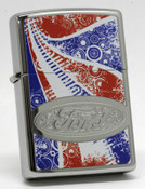 Ford Americana Distressed Chrome Zippo