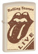 Rolling Stones Live Natural Matte Zippo