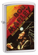 Bob Marley 1976 Tour High Polish Chrome Zippo