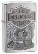 Harley Davidson Made in USA High Polish Chrome Zippo