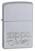 Zippo Scroll Satin Chrome Zippo