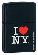 I Love NY Black Matte Zippo