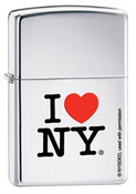 I Love NY High Polish Chrome Zippo