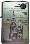 NY Chrysler and Empire State Polish Chrome Zippo