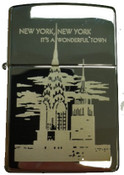 NY Chrysler and Empire State Satin Chrome Zippo