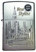 NY Skyline Taxi Slim Satin Chrome Zippo
